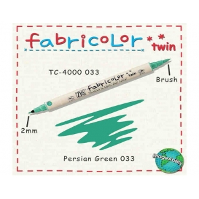 Zig Fabricolor Twin Çift Uçlu Kumaş Boyama Kalemi PERSIAN GREEN