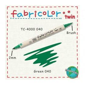 Zig Fabricolor Twin Çift Uçlu Kumaş Boyama Kalemi GREEN