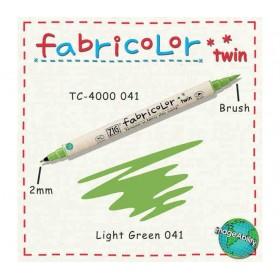 Zig Fabricolor Twin Çift Uçlu Kumaş Boyama Kalemi LIGHT GREEN