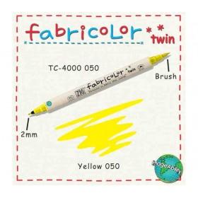 Zig Fabricolor Twin Çift Uçlu Kumaş Boyama Kalemi YELLOW