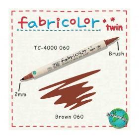 Zig Fabricolor Twin Çift Uçlu Kumaş Boyama Kalemi BROWN