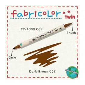 Zig Fabricolor Twin Çift Uçlu Kumaş Boyama Kalemi DARK BROWN