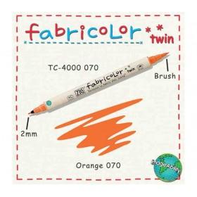 Zig Fabricolor Twin Çift Uçlu Kumaş Boyama Kalemi ORANGE