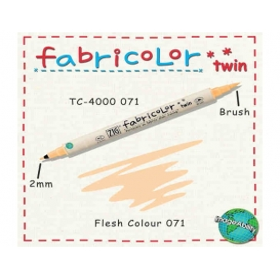 Zig Fabricolor Twin Çift Uçlu Kumaş Boyama Kalemi FLESH