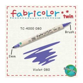 Zig Fabricolor Twin Çift Uçlu Kumaş Boyama Kalemi VIOLET