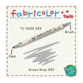 Zig Fabricolor Twin Çift Uçlu Kumaş Boyama Kalemi GREEN GREY