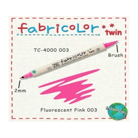 Zig Fabricolor Twin Çift Uçlu Kumaş Boyama Kalemi FLUORESCENT PINK