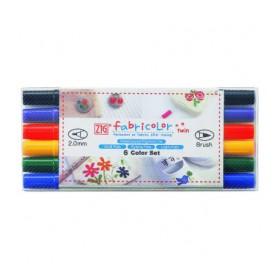 Zig Fabricolor Twin Çift Uçlu Kumaş Boyama Kalemi 6 Renk