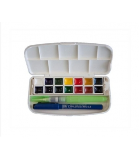 Zig Transparent Watercolor Set 14 Renk Taş Sulu Boya Seti