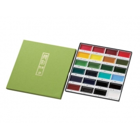 Zig Kuretake Gansai Tambi Profesyonel Japon Sulu Boya 24 Renk