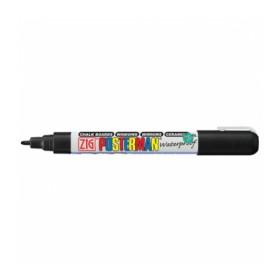 Zig Posterman Waterproof Boyama Markeri Fine Uç 1 mm BLACK