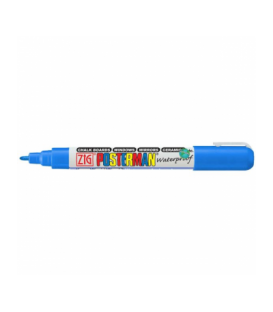 Zig Posterman Waterproof Boyama Markeri Fine Uç 1 mm BLUE