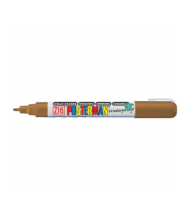 Zig Posterman Waterproof Boyama Markeri Fine Uç 1 mm BROWN