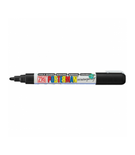 Zig Posterman Waterproof Boyama Markeri Medium Uç 2 mm BLACK