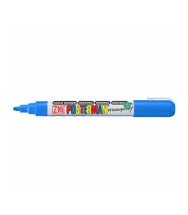 Zig Posterman Waterproof Boyama Markeri Medium Uç 2 mm BLUE