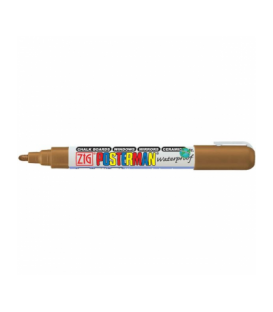 Zig Posterman Waterproof Boyama Markeri Medium Uç 2 mm BROWN