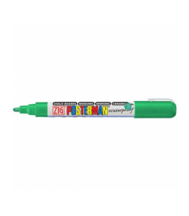 Zig Posterman Waterproof Boyama Markeri Medium Uç 2 mm GREEN