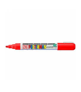 Zig Posterman Waterproof Boyama Markeri Medium Uç 2 mm RED