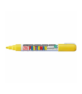 Zig Posterman Waterproof Boyama Markeri Medium Uç 2 mm YELLOW