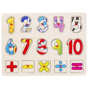 Bu-Bu Ahşap Puzzle Rakam 30,2x22,5x0,8CM