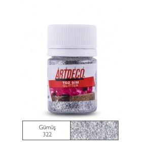 Artdeco 322 Gümüş Toz Sim (Glitter) 25ml