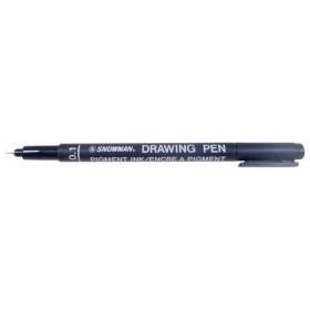Snowman Drawing Pen Teknik Çizim Kalemi 0.1 SİYAH