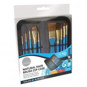 Daler Rowney Natural Hair 10'lu Çantalı Fırça Seti
