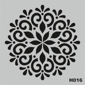 H016 Stencil Şablon 25x25cm