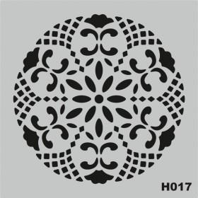 H017 Stencil Şablon 25x25cm