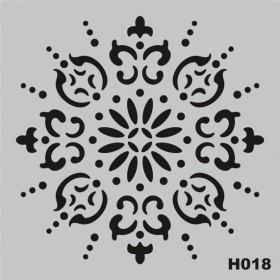 H018 Stencil Şablon 25x25cm