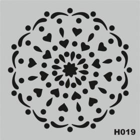 H019 Stencil Şablon 25x25cm