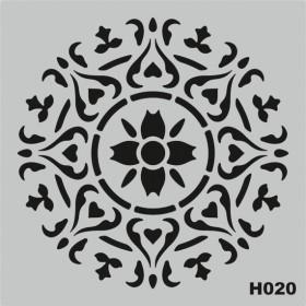 H020 Stencil Şablon 25x25cm