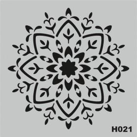 H021 Stencil Şablon 25x25cm