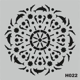 H022 Stencil Şablon 25x25cm