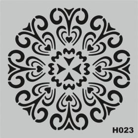 H023 Stencil Şablon 25x25cm