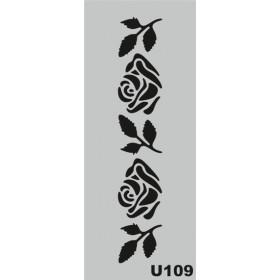 U109 Stencil 10x25 cm