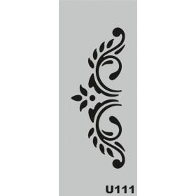 U111 Stencil 10x25 cm