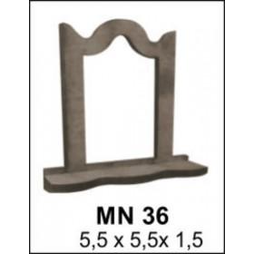 Aynalık Minyatür Ahşap Obje 5x5x1cm