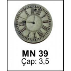 Saat Minyatür Ahşap Obje Çap 3,5cm