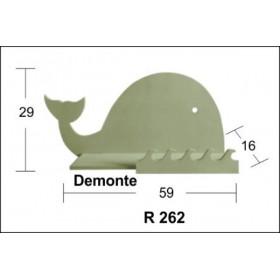 Balina Raf (Demonte) 59x29x16cm Ahşap Obje