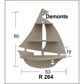 Yelkenli Raf (Demonte) 60x53x16cm Ahşap Obje