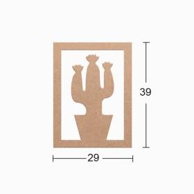 Dekoratif Duvar Süsü 29x39cm- KAKTÜS