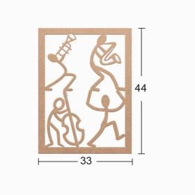 Dekoratif Duvar Süsü 33x44cm- MÜZİKAL