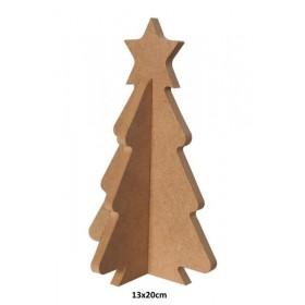 10mm Yılbaşı Ağaçı 20cm Ahşap Obje
