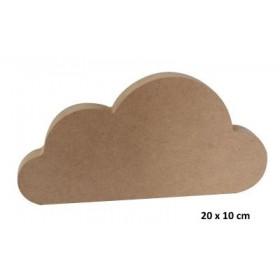 18mm Bulut Ahşap Obje