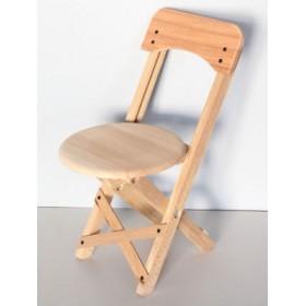 Doğal Ağaç Küçük Sandalye (Katlanabilir)
