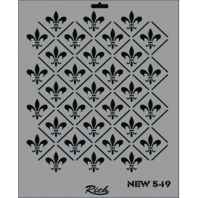 Rich New Seri N-549 Stencil 35x25cm