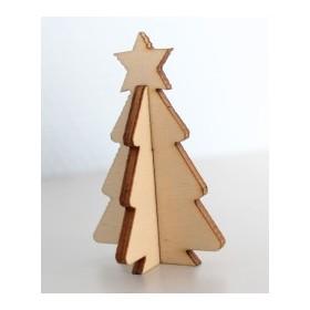 Lazer Kesim Paket Süs Yıldızlı Çam Ağacı  YB14