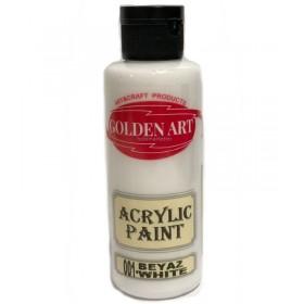 Golden Art Akrilik Boya 130cc - 001 BEYAZ
