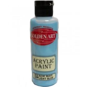Golden Art Akrilik Boya 130cc - 004 AÇIK MAVİ